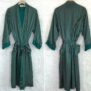 Silky Terry Robe Striped Vintage Victorias Secret